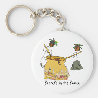 Secret's in the Sauce-Stick Figure Chefs Keychain