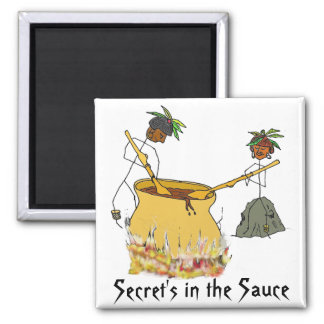 Secret's in the Sauce-Stick Figure Chefs Magnet