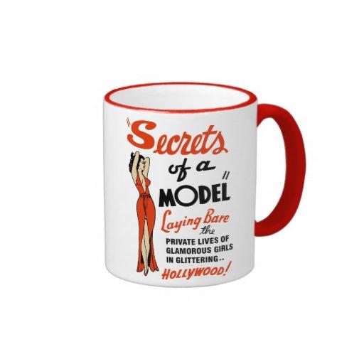 """Secrets of a Model"" 1940 Vintage B-Movie Mug"