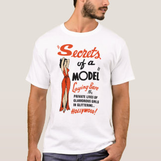 """Secrets of a Model"" 1940 Vintage B-Movie T-Shirt"