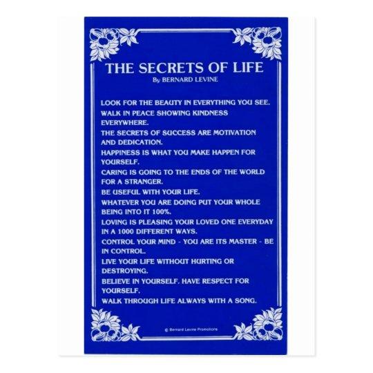 SECRETS OF LIFE By BERNARD LEVINE Postcard