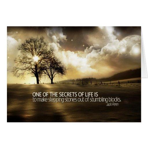 Secrets of Life Motivational Card