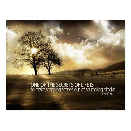 Secrets of Life Motivational Postcard