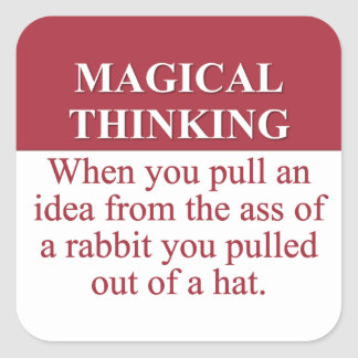 Secrets of Magical Thinking (3) Square Stickers