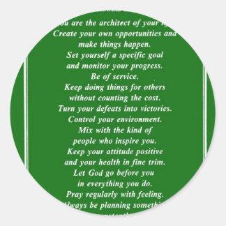 SECRETS OF SUCCESS By BERNARD LEVINE Classic Round Sticker