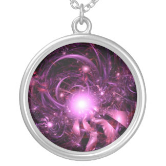 Secrets of the Universe Partially Revealed Round Pendant Necklace