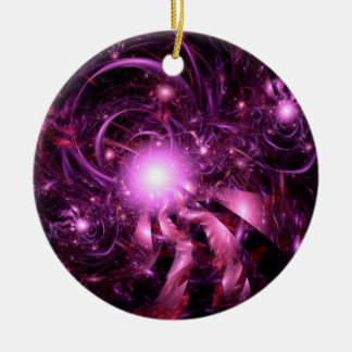 Secrets of the Universe Partially Revealed Double-Sided Ceramic Round Christmas Ornament