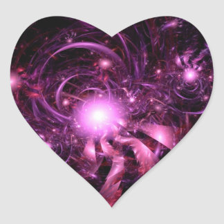 Secrets of the Universe Partially Revealed Heart Sticker