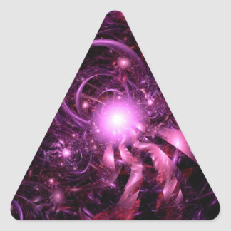Secrets of the Universe Partially Revealed Triangle Sticker