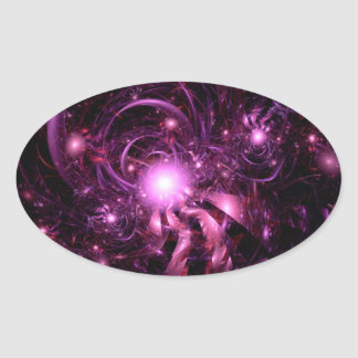 Secrets of the Universe Partially Revealed Oval Sticker
