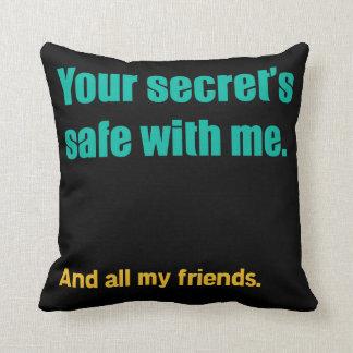 Secret's Safe Throw Pillows