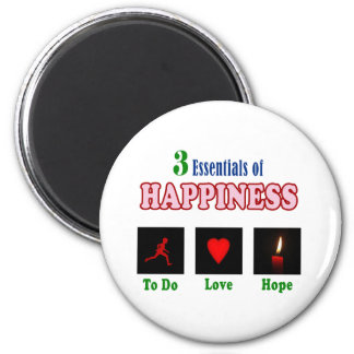 Secrets to happiness 2 inch round magnet