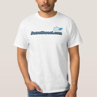 SecretTweet Logo on White T-Shirt