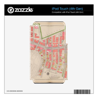 Section 12 Bronx map Skin For iPod Touch 4G