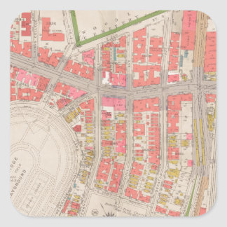 Section 12 Bronx map Square Sticker