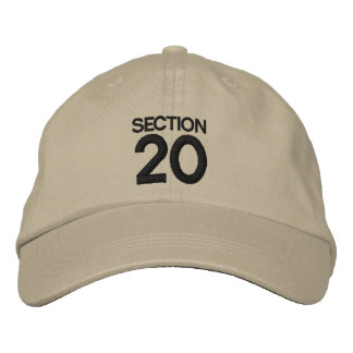 SECTION 20 Strike Back Inspired Hat/Cap Embroidered Baseball Cap
