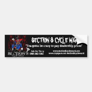 Section 8 cycle ward car bumper sticker