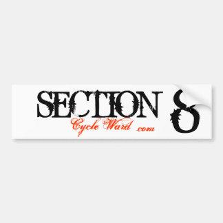 SECTION , 8, Cycle Ward, .com Car Bumper Sticker