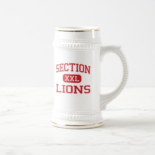 Section - Lions - High School - Section Alabama 18 Oz Beer Stein