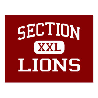 Section - Lions - High School - Section Alabama Postcard