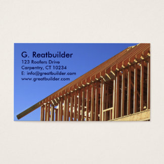 Section of framing business card
