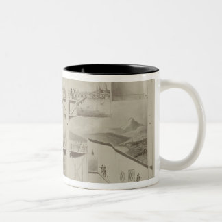 Section of the Rotunda, Leicester Square, from 'Pl Two-Tone Coffee Mug