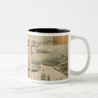 Section of the Rotunda, Leicester Square Two-Tone Coffee Mug