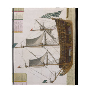 Section through a French first-rate ship of 104 ca iPad Folio Cover