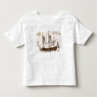 Section through a French first-rate ship of 104 ca Toddler T-shirt