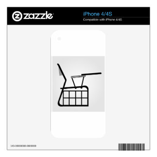 Sectional elevation of table for designers decal for iPhone 4