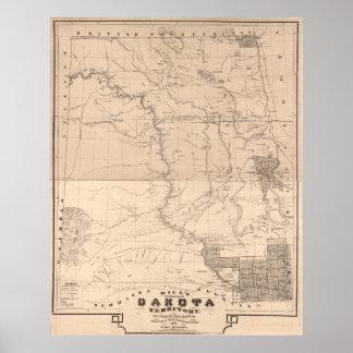 Sectional map of Dakota Territory Poster