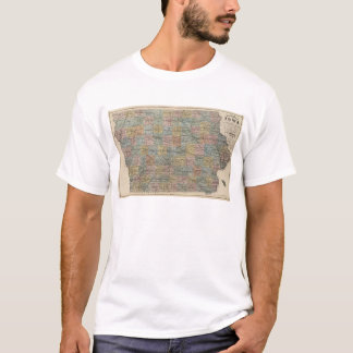 Sectional map of Iowa T-Shirt
