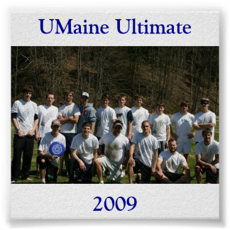 sectionals09, UMaine Ultimate, 2009 Poster