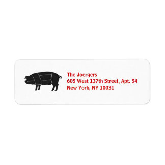 Sectioned BBQ Black Pig Label