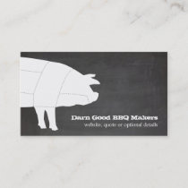 Sectioned BBQ Pig Barbecue Business Card