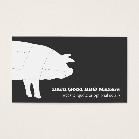 Sectioned BBQ Pig Business Card