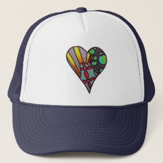 sectioned heart hat