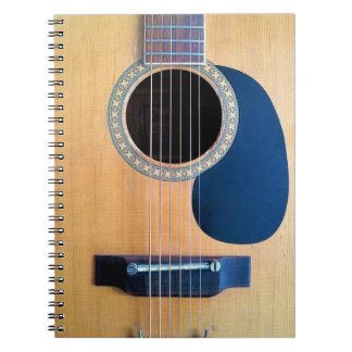 Secuencia de Dreadnought 6 de la guitarra acústica Libros De Apuntes Con Espiral