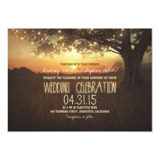 secuencia de la invitación del boda del árbol de invitación 12,7 x 17,8 cm