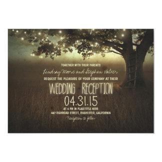 secuencia de la recepción nupcial rústica de las invitación 12,7 x 17,8 cm