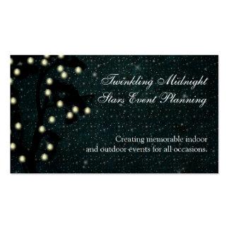 Secuencia de medianoche estrellada del planeamient tarjeta de visita