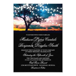 Secuencia del árbol de las luces en la invitación