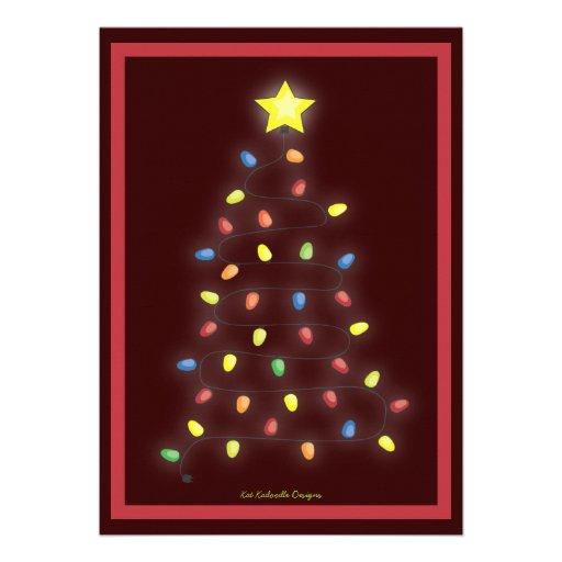 Secuencia del árbol de navidad de la celebración d comunicado personal