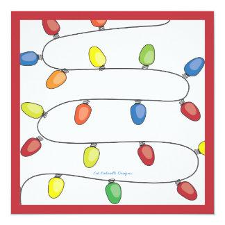 """Secuencia del árbol de navidad de la celebración invitación 5.25"""" x 5.25"""""""