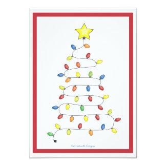 """Secuencia del árbol de navidad de la celebración invitación 5"""" x 7"""""""