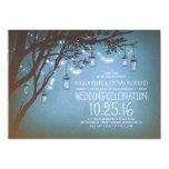 secuencia del boda del vintage de los tarros de invitación 12,7 x 17,8 cm