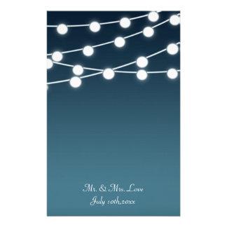 Secuencia del boda romántico encendido de las papelería