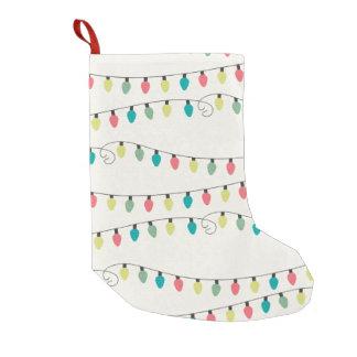 Secuencia del navidad del modelo de las luces calcetín de navidad pequeño