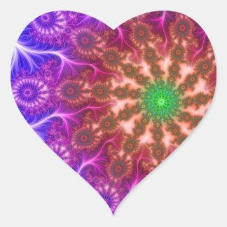 Secuencia eléctrica de Z Pegatina En Forma De Corazón