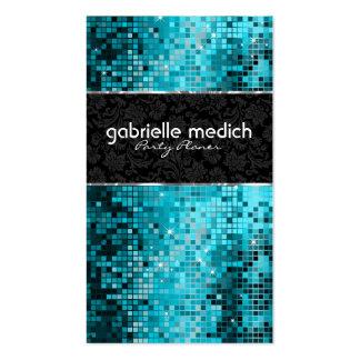 Secuencia metálica 2 del brillo azulverde elegante tarjetas de visita